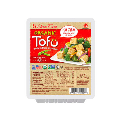 Organic House Tofu Firm(2 Red) - 有機 House 老豆腐(1份2盒紅包)