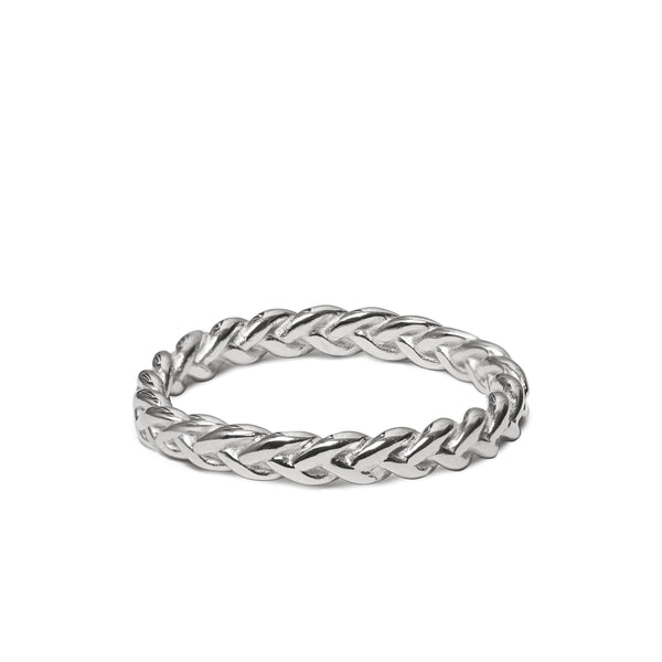 The Ada Plaited Ring - Sterling silver