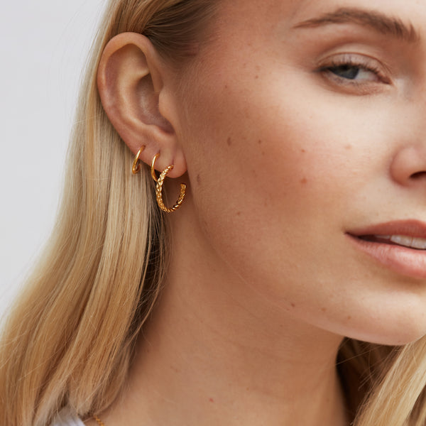 The Ada Plaited Hoops