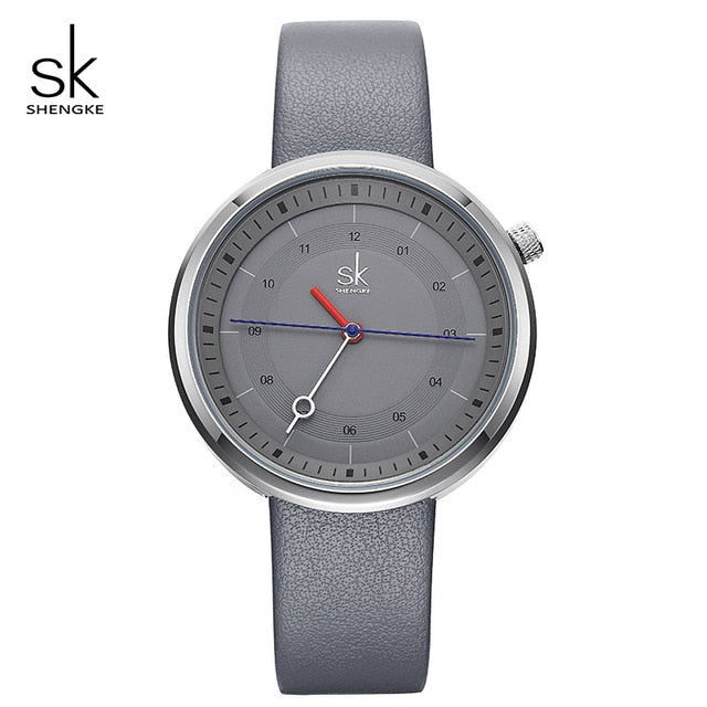 SK Trendy Watches with Leather Strap