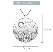 Load image into Gallery viewer, Lotus Fun Real 925 Sterling Silver The Moonlight Pendant without Chain - SHIMOH