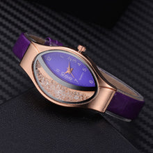 Load image into Gallery viewer, Women Ellipse Rhinestone Watches with Leather Strap
