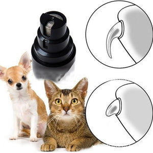 Rechargeable Pet Nail Grinder, Nail Clipper,Electric Nail Trimmer, Painless Paw Claw Care, Quiet Rechargeable Grooming Tool for Dog/Cat/Bird - SHIMOH