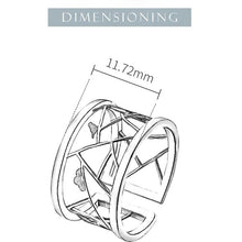 Load image into Gallery viewer, Lotus Fun Real 925 Sterling Silver Open Ring - SHIMOH