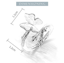 Load image into Gallery viewer, Lotus Fun Real 925 Sterling Silver Cute Butterfly on Branch Open Ring