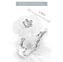 Load image into Gallery viewer, Lotus Fun Real 925 Sterling Silver crystal Flower in the Rain Adjustable Ring - SHIMOH