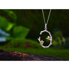 Load image into Gallery viewer, Bird on Branch Pendant without chain - SHIMOH