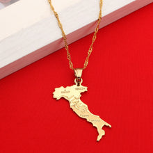 Load image into Gallery viewer, Map Of ITALIE Pendant Necklace
