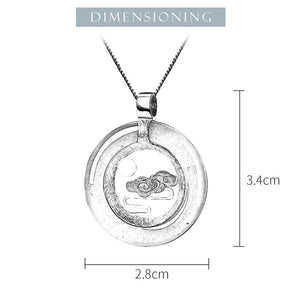 Lotus Fun Real 925 Sterling Silver Handmade Peace Clouds Pendant without Necklace - SHIMOH
