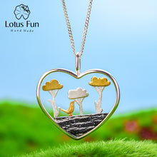 Load image into Gallery viewer, Lotus Fun Real 925 Sterling Silver Handmade Planting Trees of Clouds Pendant without Necklace - SHIMOH