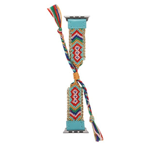 Braided rope strap bracelet belt Handmade watchbands for iwatch - SHIMOH
