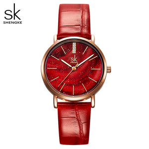 SK Women Watches with Stainless Steel Mesh Strap