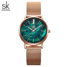 Load image into Gallery viewer, SK Women Watches with Stainless Steel Mesh Strap