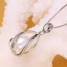 Load image into Gallery viewer, FENASY 925 Sterling SilverNatural Freshwater Pearl Cage Pendant  Necklace
