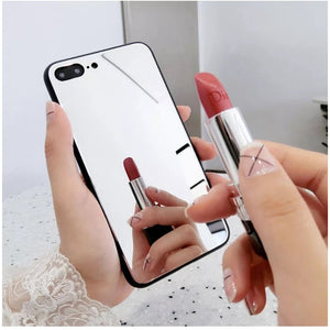 Luxury Full Mirror Silicone iphone Case