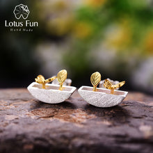 Load image into Gallery viewer, Lotus Fun Real 925 Sterling Silver Handmade My Little Garden Stud Earrings - SHIMOH