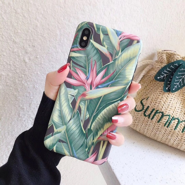 Banana Leaves Phone Case For iPhone - SHIMOH