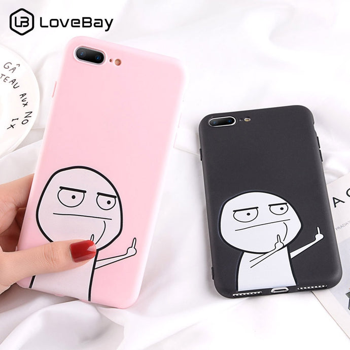 Funny Finger iPhone Case Soft TPU