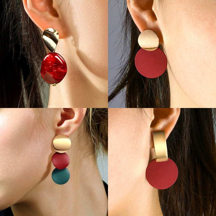 X&P Statement Drop Earrings - SHIMOH