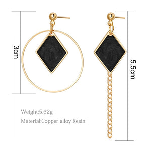 X&P Gold Drop Earrings - SHIMOH