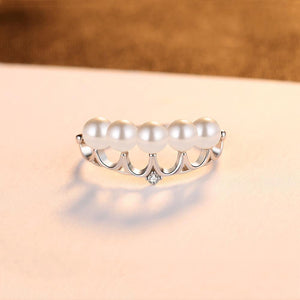 CZCITY 925 Sterling Silver Crown Ring - SHIMOH