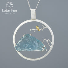 Load image into Gallery viewer, Lotus Fun Natural Raw Stone Real 925 Sterling Silver  Handmade Bird Whisper Pendant without Necklace - SHIMOH