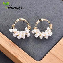 Load image into Gallery viewer, Hongye Drop Earrings with Natural Pearls - SHIMOH