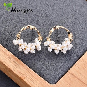 Hongye Drop Earrings with Natural Pearls - SHIMOH