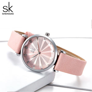 SK Diamond Hour Marker Women's Watches