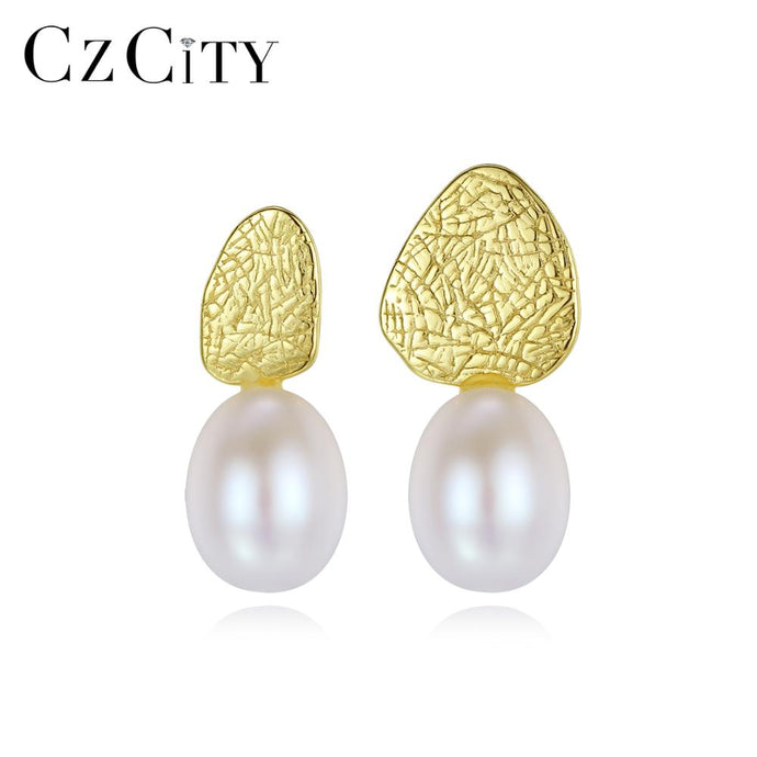 CZCITY 925 Sterling Silver Stud Earrings - SHIMOH