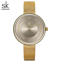 Load image into Gallery viewer, SK Women Luxury Stainless Steel Mesh Strap Watches
