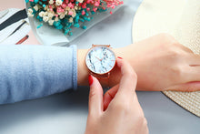 Load image into Gallery viewer, Marble Ladies Watches With Mesh Band