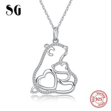 Load image into Gallery viewer, Mom rose gold and sterling silver 925 chain necklace