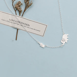 Cute Elephant Design Fashion Charming Necklace 925 Sterling Silver - SHIMOH