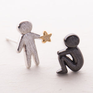 Picking Gold Stars for You Stud Earrings s925 Silver