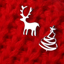 Load image into Gallery viewer, Cute Small Deer Christmas Tree Stud Earrings Xmas - SHIMOH