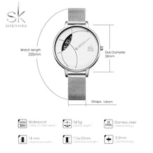 Load image into Gallery viewer, SK Women Watch Stainless Steel Mesh Band