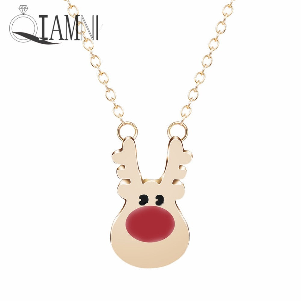 Lovely Rudolph Reindeer Necklace - Xmas - SHIMOH