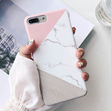 Load image into Gallery viewer, Lovebay Phone Case Geometric Splice Pattern Marble