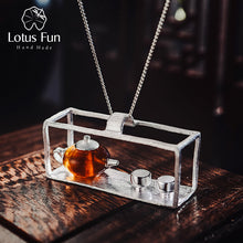 Load image into Gallery viewer, Lotus Fun Real 925 Sterling Silver Natural Amber Teapot  Pendant without Necklace - SHIMOH