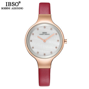 IBSO Luxury Shell Dial Crystal Design Watches