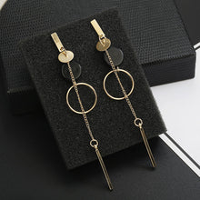 Load image into Gallery viewer, Long Slope Geometric earrings - SHIMOH