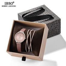 Load image into Gallery viewer, IBSO Crystal Bracelet Watches Set