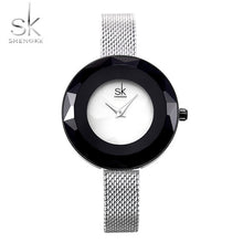 Load image into Gallery viewer, SK Women's Luxury Watch Prism Face Gold Mesh Band
