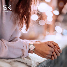 Load image into Gallery viewer, SK Diamond Hour Marker Women's Watches