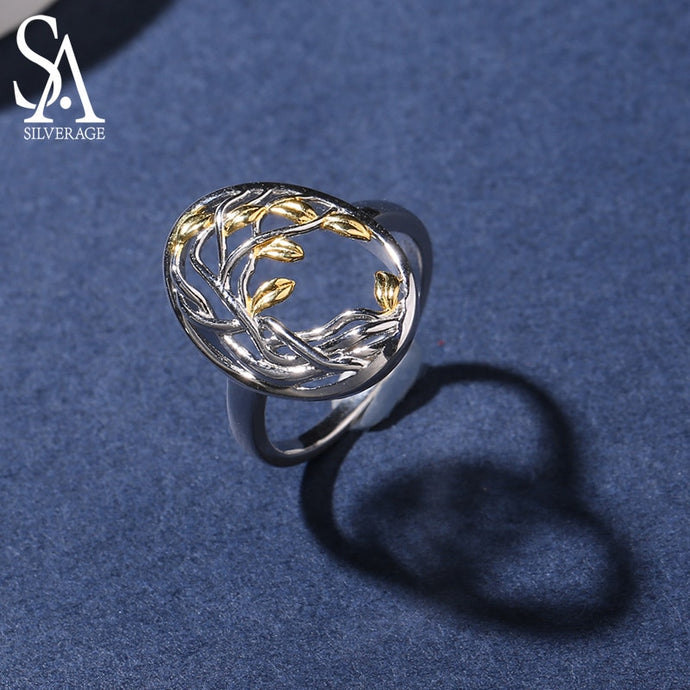 SA SILVERAGE Authentic 925 Sterling Silver Tree of Life Rings - SHIMOH