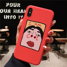 Load image into Gallery viewer, I am COOL Silicone Soft TPU Phone Case