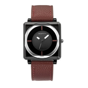 Square Women Watches with Leather Band