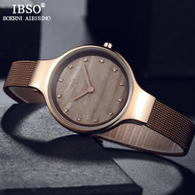 Load image into Gallery viewer, IBSO Luxury Shell Dial Crystal Design Watches