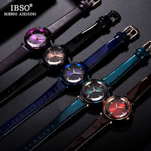 IBSO Crystal Watches with Leather band